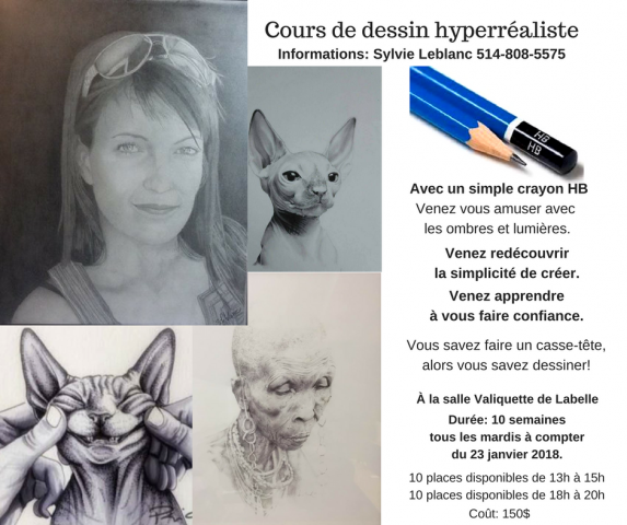 cours dessin infos