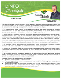 Pages de Info municipale septembre