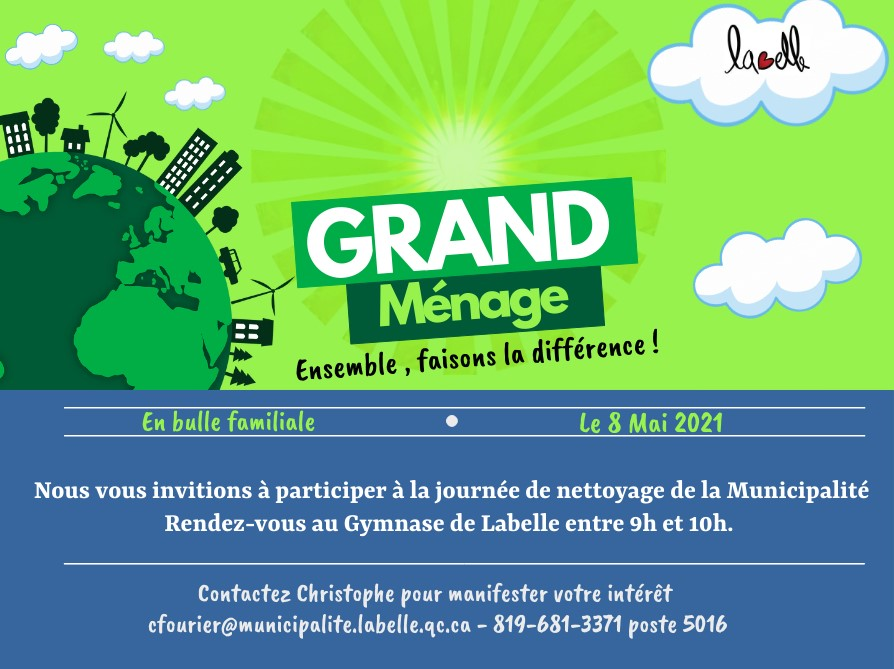 Pub Grand ménage Site Web flyer